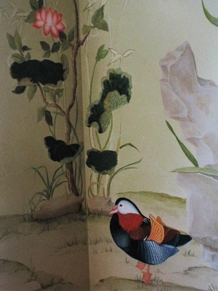 peinture murale tirée d'un ancien papier chinois